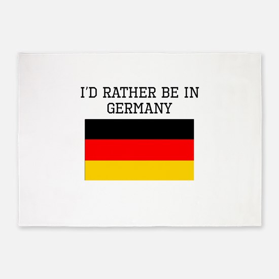 Id Rather Be In Germany 5'x7'Area Rug