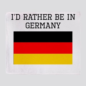 Id Rather Be In Germany Throw Blanket
