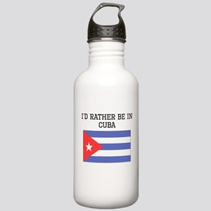 Id Rather Be In Cuba Water Bottle