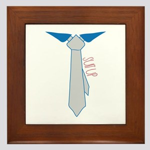 Suit Up Framed Tile