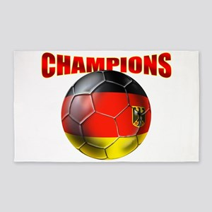 Germany Soccer Champions Area Rug