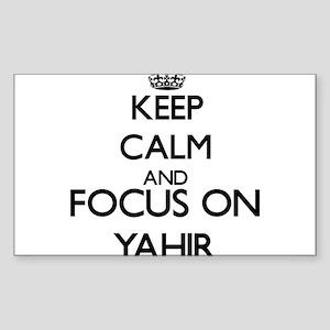 Keep Calm and Focus on Yahir Sticker
