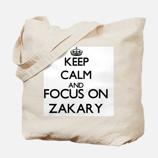 Keep Calm and Focus on Zakary Tote Bag