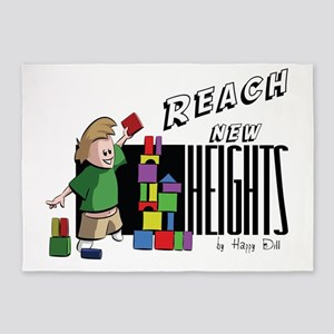 Reach new Heights 5'x7'Area Rug