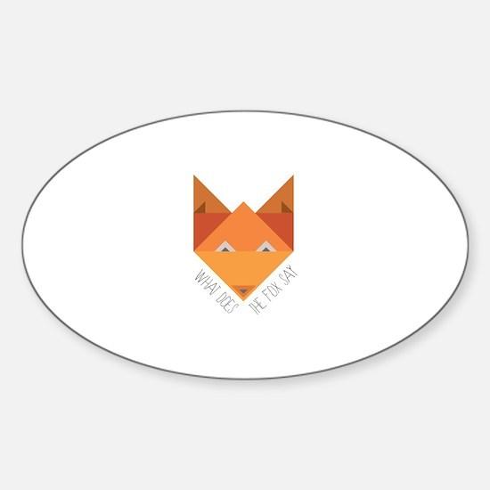 Fox Say Decal