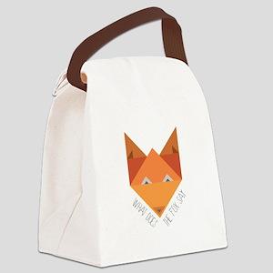 Fox Say Canvas Lunch Bag