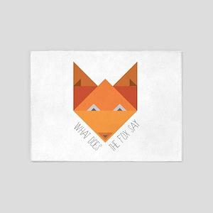 Fox Say 5'x7'Area Rug