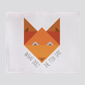 Fox Say Throw Blanket
