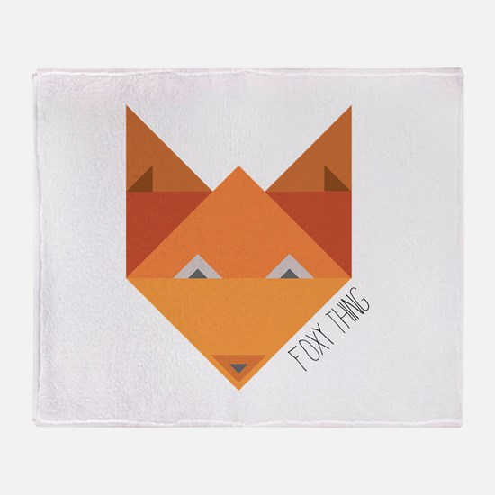Foxy Thing Throw Blanket