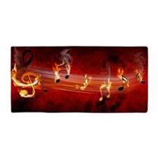 Hot Music Notes Beach Towel