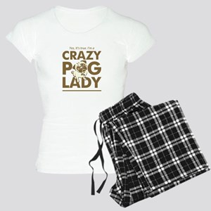 Crazy Pug Lady T Shirt and  Women's Light Pajamas