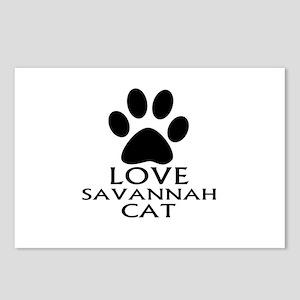 Love Savannah Cat Designs Postcards (Package of 8)