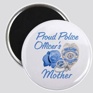 Blue Rose Police Mother Magnet