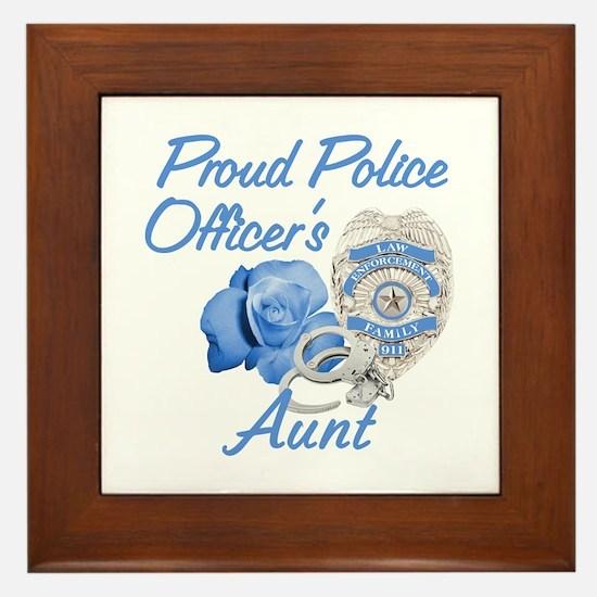 Blue Rose Police Aunt Framed Tile