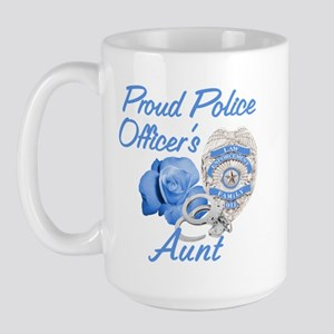 Blue Rose Police Aunt Large Mug