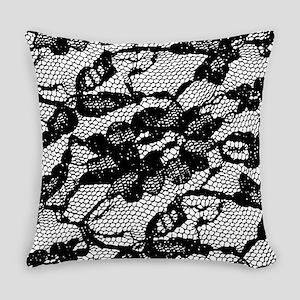 Black Lace Pattern Master Pillow