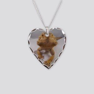Rebney on white Necklace Heart Charm