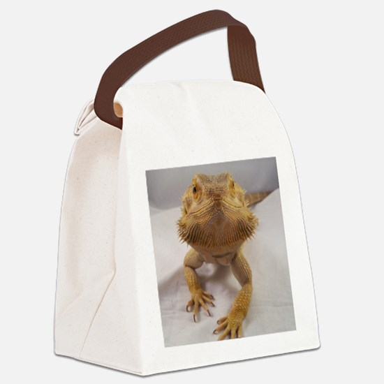 Rebney on white Canvas Lunch Bag
