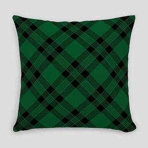 Green Plaid Pattern Master Pillow
