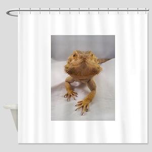 Rebney on white Shower Curtain