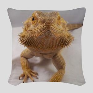 Rebney on white Woven Throw Pillow
