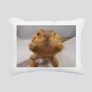 Rebney on white Rectangular Canvas Pillow