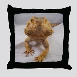 Rebney on white Throw Pillow