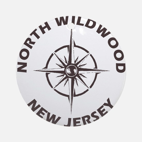 New Jersey - North Wildwood Round Ornament