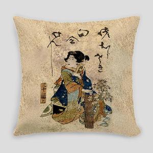 Vintage Japanese Art Woman Master Pillow