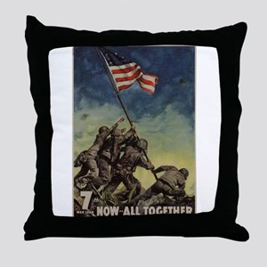 iwo jima Throw Pillow