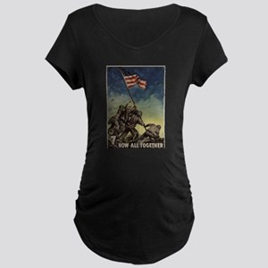 iwo jima Maternity T-Shirt