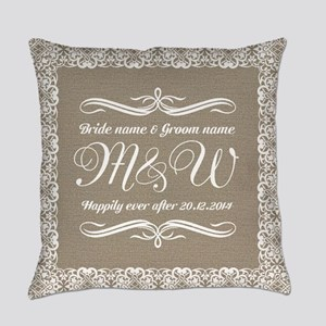 Bride And Groom Monogrammed Master Pillow