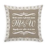 Wedding Burlap Pillows