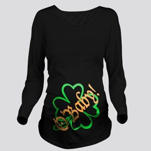 St. Patricks Obaby Long Sleeve Maternity T-Shirt
