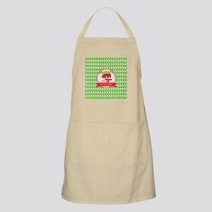 Red, Green and White Custom Christmas Apron