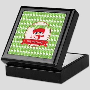 Red, Green and White Custom Christmas Keepsake Box