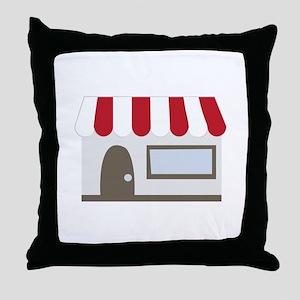 Storefront Building Throw Pillow