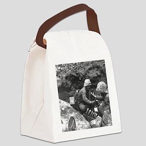 iwo jima Canvas Lunch Bag