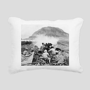 iwo jima Rectangular Canvas Pillow