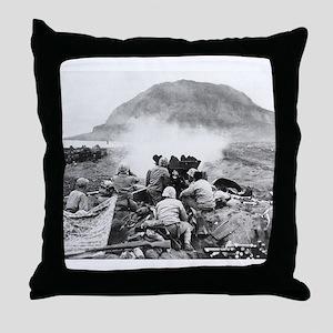 iwo jima Throw Pillow