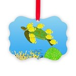 Green Sea Turtle and Tangs Ornament