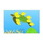Green Sea Turtle and Tangs Posters