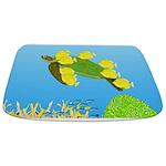 Green Sea Turtle and Tangs Bathmat