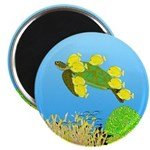Green Sea Turtle and Tangs Magnets