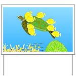 Green Sea Turtle and Tangs Yard Sign