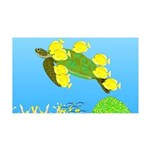Green Sea Turtle and Tangs Wall Decal