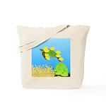 Green Sea Turtle and Tangs Tote Bag