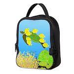 Green Sea Turtle and Tangs Neoprene Lunch Bag