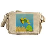 Green Sea Turtle and Tangs Messenger Bag