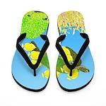 Green Sea Turtle and Tangs Flip Flops